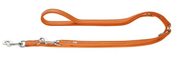 Luxury Hunter Cannes Leather Training Leash Orange