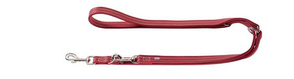 Luxury Hunter Cannes Leather Training Leash Raspberry