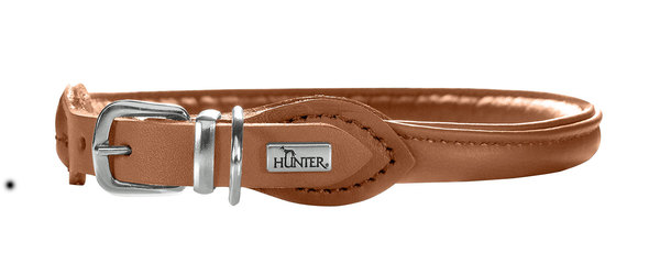 Hunter Elk Leather Brown Collar 33-37cm