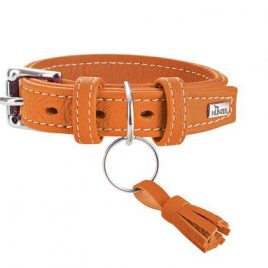 Hunter Cannes 50cm Orange Leather Collar