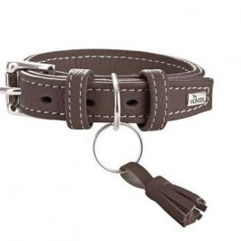 Hunter Cannes 45cm Brown Leather Collar