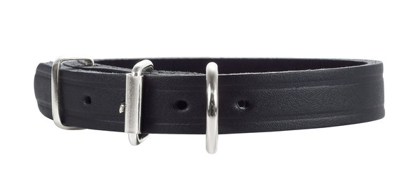 Hunter Black Leather Collar 23-28cm