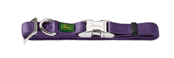 Hunter Violet Nylon Collar Large 45-65cm