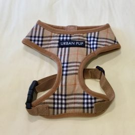 Urban Pup Brown Checked Tartan Harness Medium