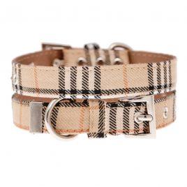 Urban Pup Brown Checked Tartan Collar