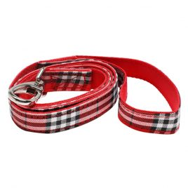 Urban Pup Red Checked Tartan Collar Lead