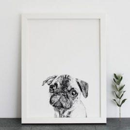 Ros Shiers Pug Print
