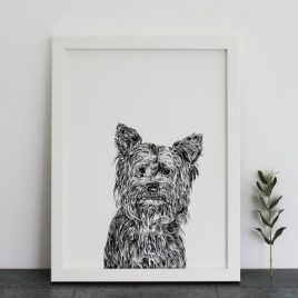 Ros Shiers Cairne Terrier Print