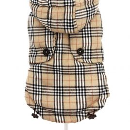 Brown Checked Tartan Quilted Coat Med