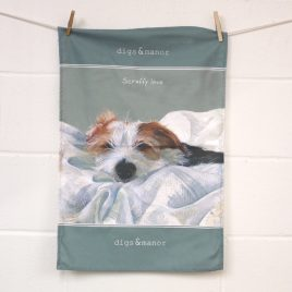 Scruffy Love Tea Towel