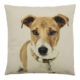 Canvas Jack Russell Cushion