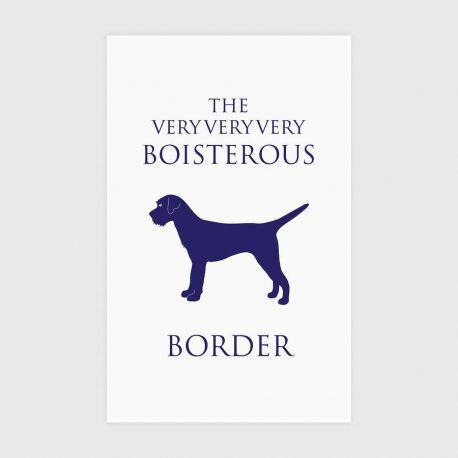 boisterous border tea towel
